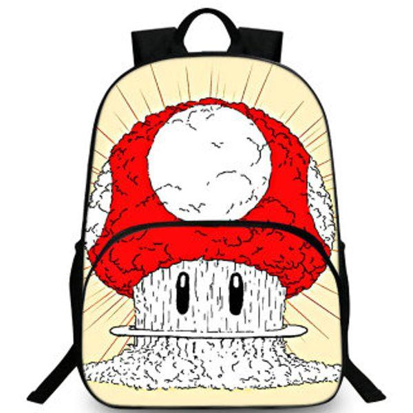 Mushroom backpack Super Mario day pack Cute game barrier school bag Leisure packsack Quality rucksack Sport schoolbag Outdoor daypack