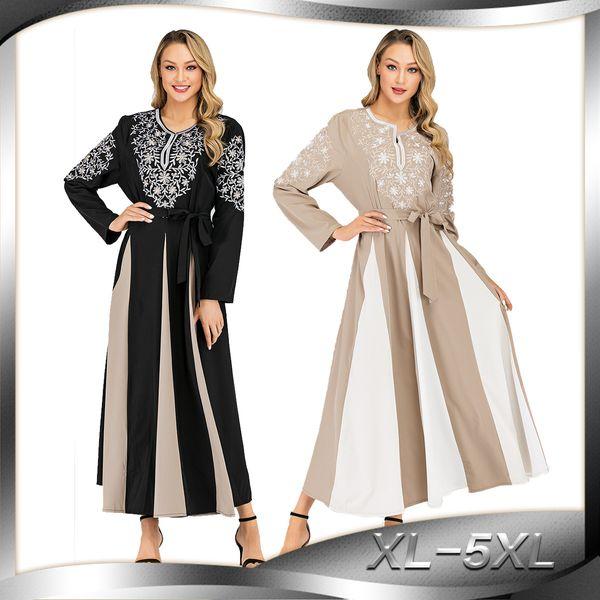 CM6112 5XL Plus Size Embroidery Muslim Dress Female Fashion Katfan Abaya  Dubai Kimono Islamic Abaya Wq2404 Prayer Service Clothing Trendy Dresses ...