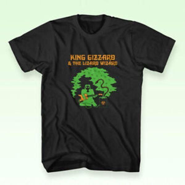 Unisex Vadisi Kral Gizzard Kertenkele Sihirbazı BlaUnisex erkek T-Shirt Düzenli