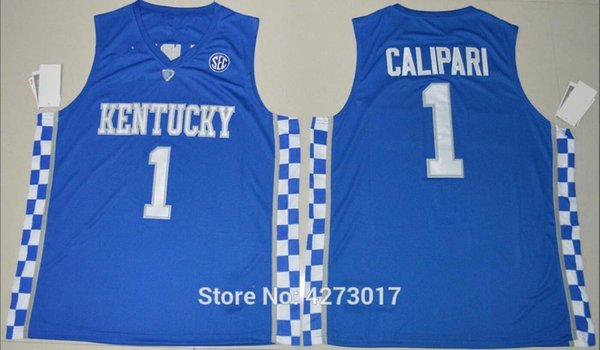 online retailer 16c43 a6612 2019 Mens Basketball Kentucky Wildcats College Jerseys 1 John Calipari  Jersey Men Breathable All Stitched Top Quality On Sale Ncaa From Ckj2017,  ...