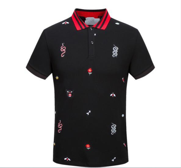 Wholesale Luxury Italy Shirt T-shirt High Street Embroidery T shirts For Men Snake Bee Tiger Brand shirt Shirt Men