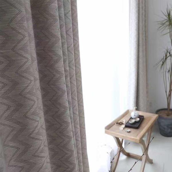 Acquista Tende Oscuranti A Strisce Soggiorno Tende Camera Da Letto Su  Misura Finestra Decorazioni La Casa Cucina Marrone A $32.36 Dal Shuishu |  ...
