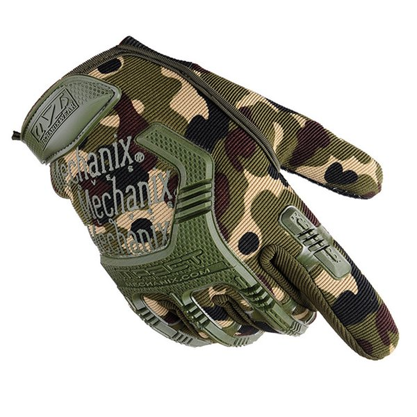 Army Combat Tactical Gloves Men Full Finger Camouflage Paintball Gloves Bicycle Mittens handschoenen Guanti Rekawiczki