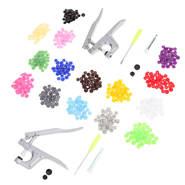DIY Apparel Sewing Fabric Buttons Professional 1 set Metal Press Pliers ools for T3 T5 T8 Button U Shape Fastener Snap Pliers