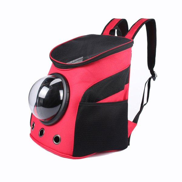 NEW Carrier Dog Cat Space Shaped Pet Travel Carrying Breathable Shoulder Backpack Outside Travel Portable Bag Pet Produc