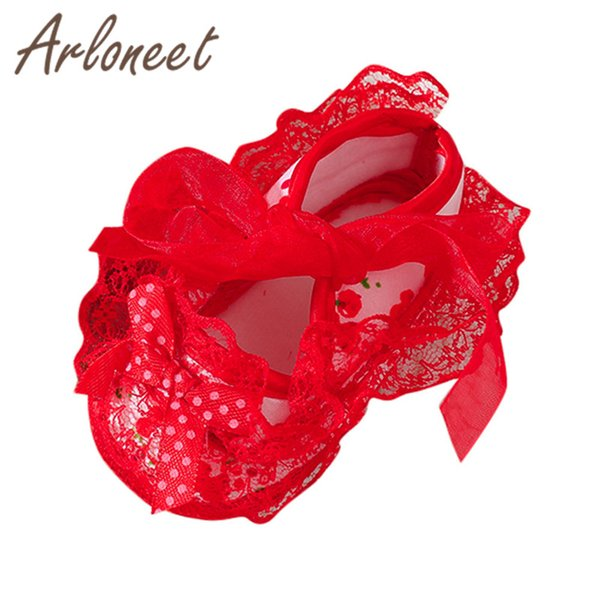 Newborn Girl baby Toddler Shoes kids Canvas Anti-slip Shoes Lace Bowknot Rabind Sneaker Baby Cloth Crib