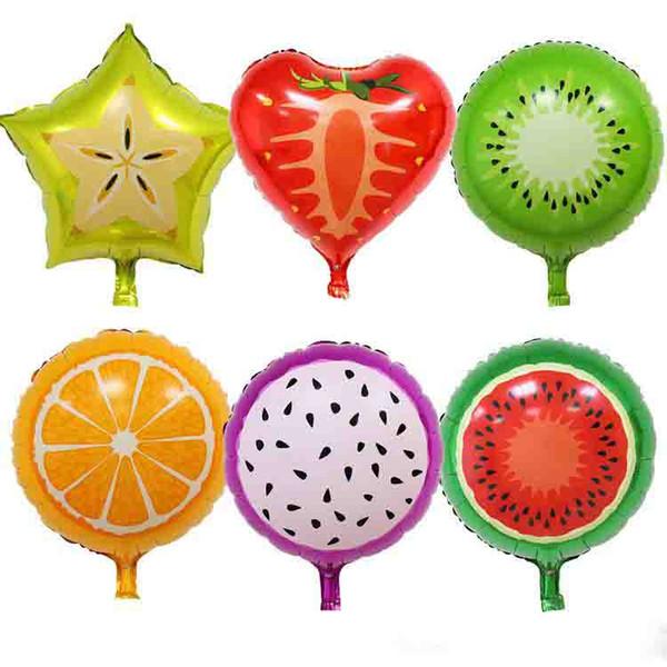 18 pouces en aluminium Fruit Ballons Fruits multiples hélium ballons pour enfants de fête d'anniversaire de mariage Décorations Ballons fraises