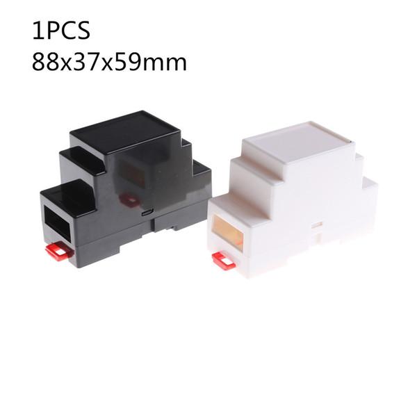 best selling Connectors & Terminals Connectors 1PCS Plastic Electronics Box Project Case DIN Rail PLC Junction Box 2 Colors 88x37x59mm