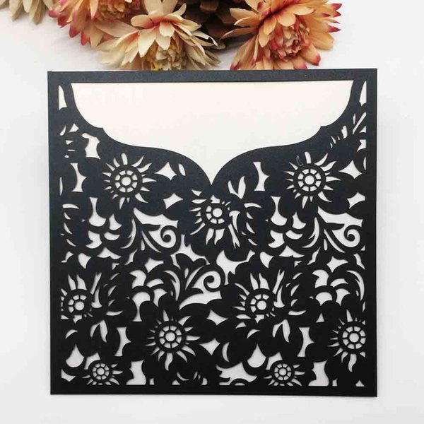 Wedding Invitation Card Squire Design Lace Laser Cut Hollow Sculpture Supply To Business Birthday Wedding Grand Events