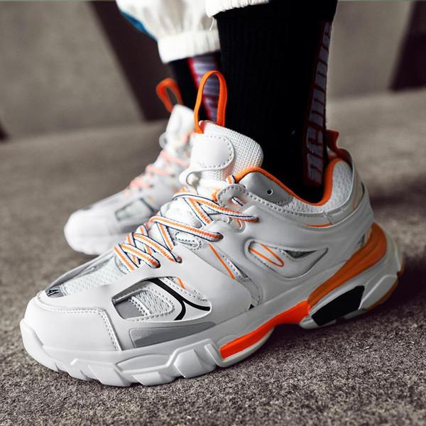 Новый роскошный дизайн Track 3,0 Кроссовки Tess Paris Мужчина Gomma MAILLE Black Low Track 3M Тройной Повседневная обувь Открытая обувь 35-45