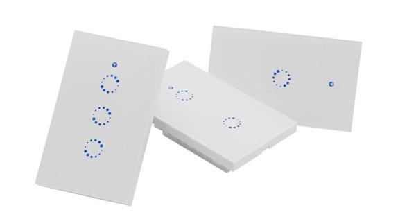 Sonoff T1 Smart WiFi RF / APP / Interruptor de luz de pared con control táctil 1/2/3 Panel de EE.UU. en forma para 118 120 Interruptor de luz táctil de pared Casa inteligente
