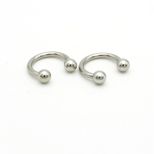 wholesale 316l Surgical Steel Horseshoe 14G Ball Curved Fashion Body Piercing Jewelry Belly Bar Hoop Nose Rings Earrings For Women
