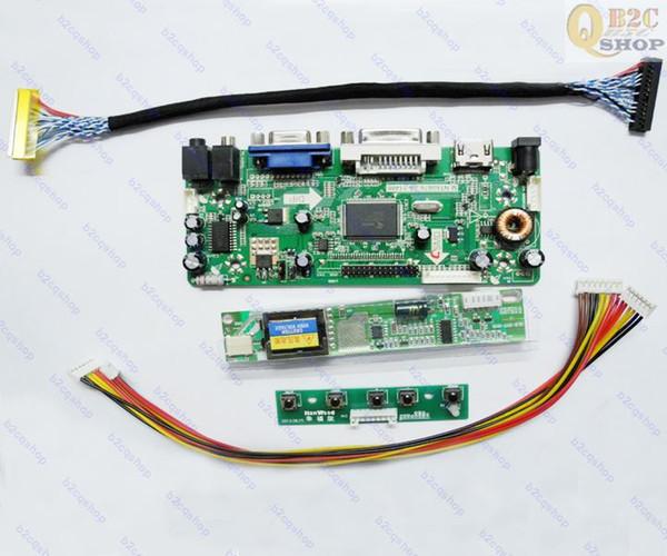 HDMI + DVI + VGA LCD Conseil Carte Inverter Lvds Convertisseur Kit pour 15.4 LTN154X3-L01 moniteur 1280X800