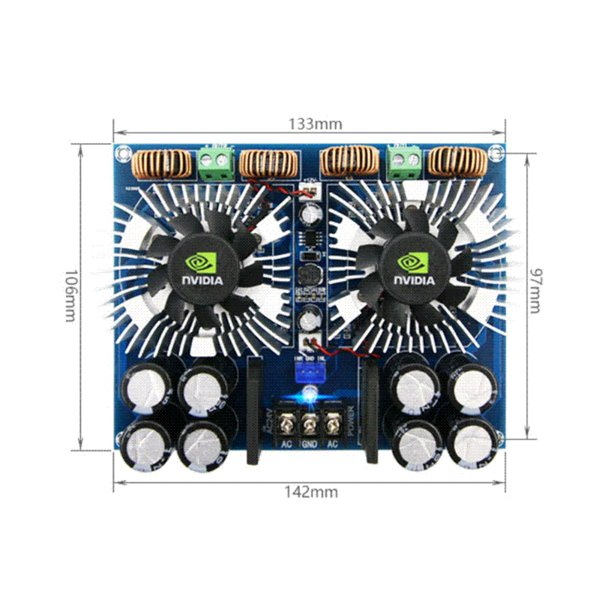 Aiyima TDA8954TH Digital Audio Amplifier Board 420W*2 High Power Two-channel Amplificador Dual AC24V wholesale Amplifier