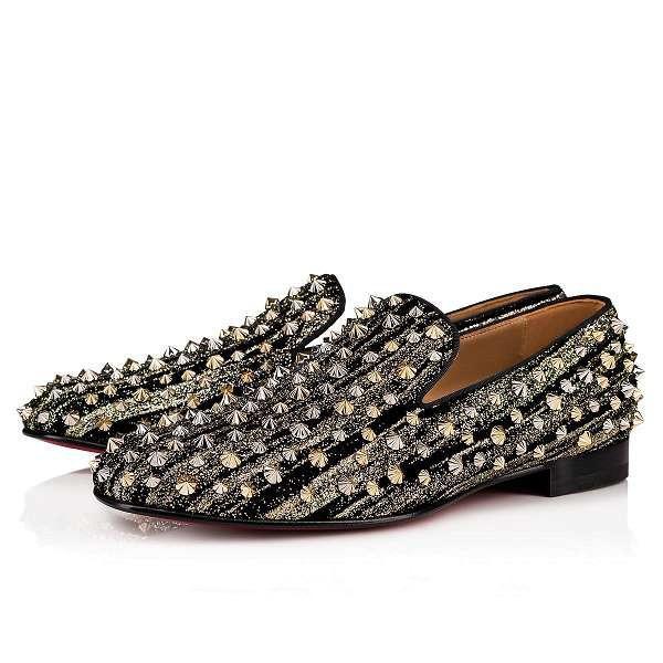 [Boîte originale] Bottom Rivet Chaussures de sport plat Mode rouge pour Femmes Hommes Slip On Casual Flat Luxury Designer Skate Flats Party Dress Mocassins