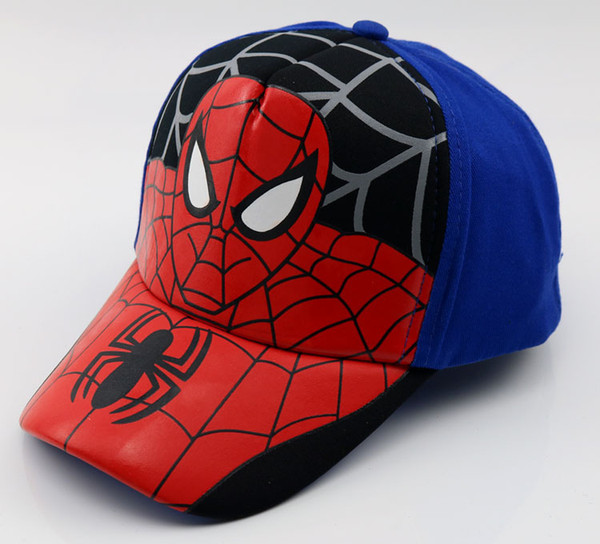 026fd2d50a2783 South Korea's new children's hat marvel animation baby cap spider man  baseball cap outdoor cartoon sun