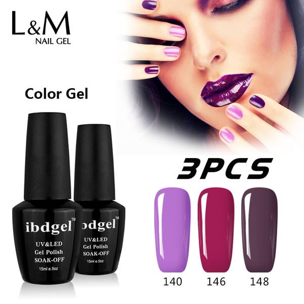 prego 3 Pcs Kit Marca ibdgel Nails baratos polonês Professional Gel UV Atacado Fábrica de melhor qualidade Soak Off Gelpolish Permanente