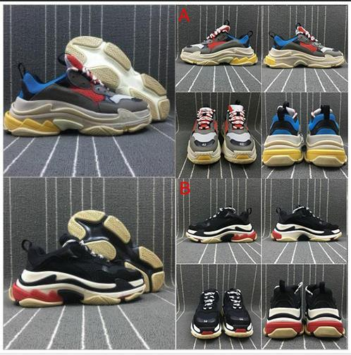 best selling 2020 Paris Triple-S Designer Shoes Low Platform Sneakers Triple S Mens Casual Women designer shoe casual Sports Trainers zapatos with box