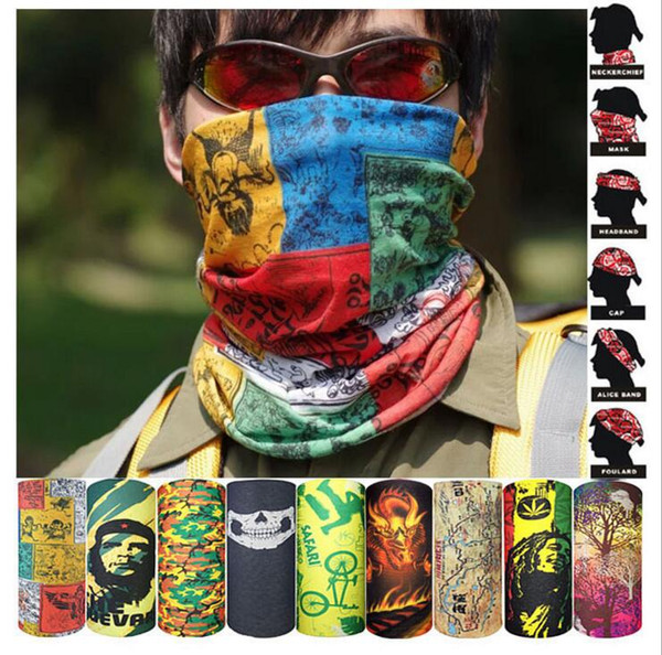 best selling Cycling Bandanas Outdoor Cycling Masks Scarves Magic Turban Riding Hip Hop Caps Outdoor Sunscreen Hair Band Motorcycle Wraps Headwear E145