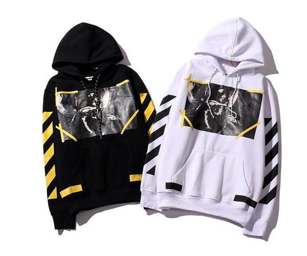 v2019s Pkorli off Hoodie Religiosa Virgin Angel Stripe Top Quality Letter Pullover Street Trend Clothing Luxury Hoodie Brand Sudadera