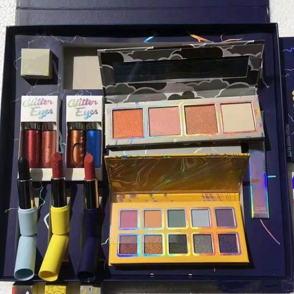 Venta caliente del maquillaje sombra de ojos Set El Tiempo Colección Bundle flash del brillo brillo conjunto de resaltado del lápiz labial tormenta completa del envío de DHL