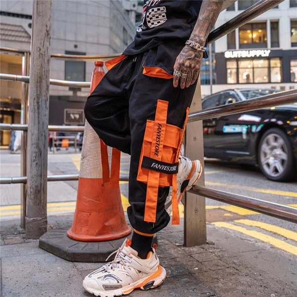 super qualità Cheaper nuova versione Acquista Pantaloni Da Uomo A Contrasto Di Colore Hip Hop Tasche ...