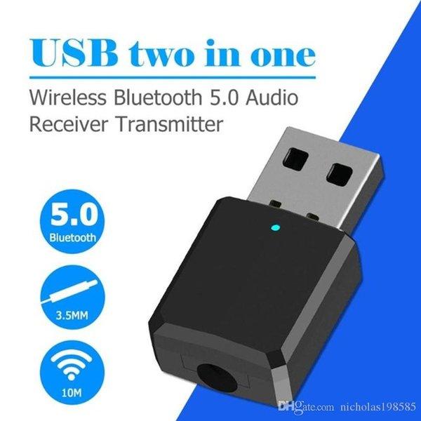 ZF-169 Bluetooth 5.0 USB 2-em-1 Música Transceptor de Áudio Transmissor do Computador Speaker Headphone Adapter Adaptador Receptor De Áudio Portátil