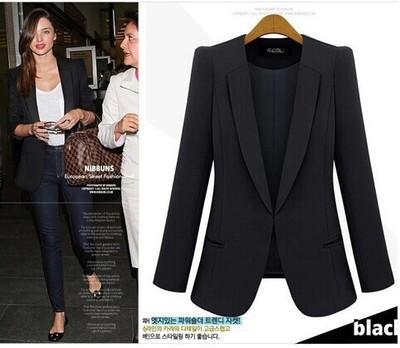 New Spring 2017 Women Blazers plus size fashion female slim blazer Ol Candy Color suit jacket ladies office coat Maxi Size S-4xl