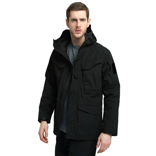 Men's Tactical Trench Coat Windproof Waterproof and Wear-resistant Breathable Jacket Fan Camouflage Jacket