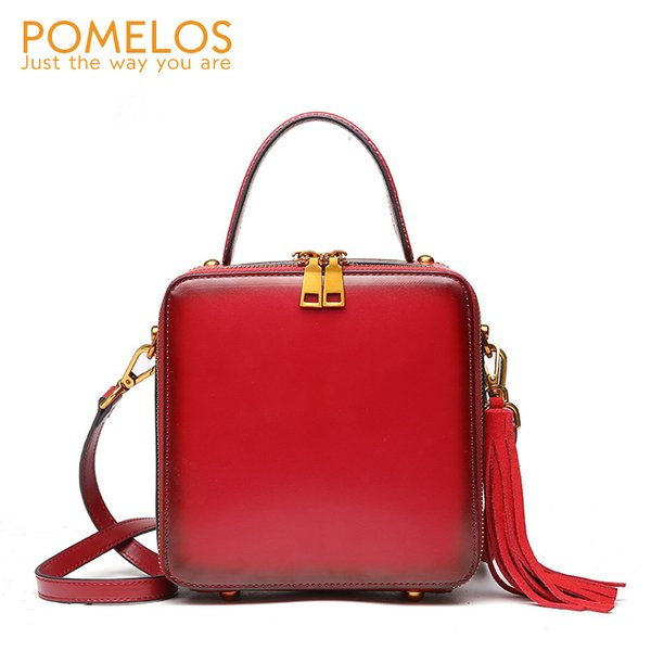 POMELOS Women Bag Genuine Leather High Quality Brand Luxury Handbag Crossbody Bags For Women Fashion Shoulder Ladies Hand Bags