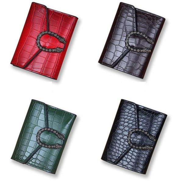 Designer de Bolsas de Luxo Bolsas Mini Estilo Best Selling PU Três Dobras Carteiras Curto Multi cartão Sacos de Meninas Nova Chegada 4 Cores Disponíveis Hot
