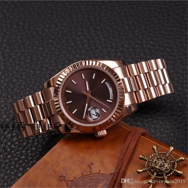 DayDate de oro rosa Orologio Di-Día Fecha reloj Lusso Presidente relojes automáticos Orologio Da Polso Automatico Lusso Orologio Relo Reloj