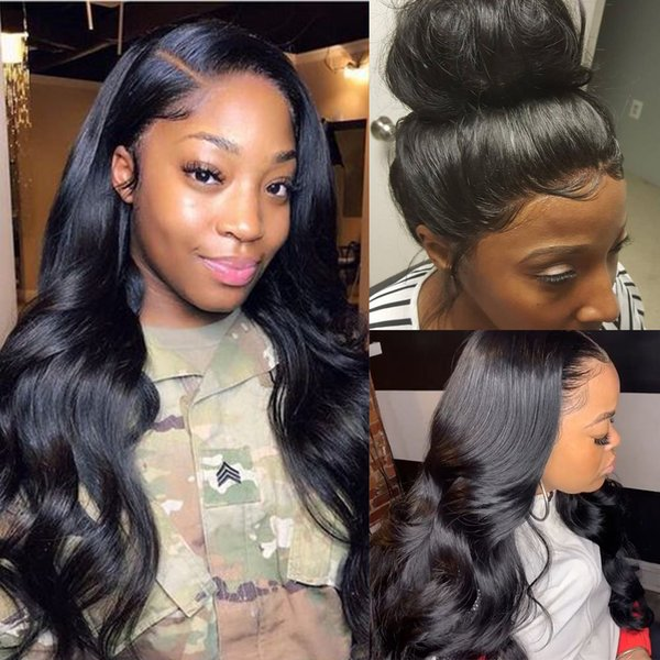 13x4 Glueless Lace Front Human Hair Wigs Brazilian Body Wave 30inch Pre Plucked With Baby Hair 180% Density Lace Front Wig