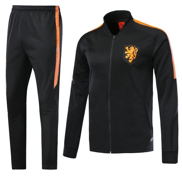 nueva lanzamiento último diseño en pies imágenes de 2019 2018 2019 Netherlands Soccer Jacket Tracksuit 18 19 Chandal Training  Suits ROBBEN MEMPHIS PERSIE Soccer Jersey Training Sports Wear From ...