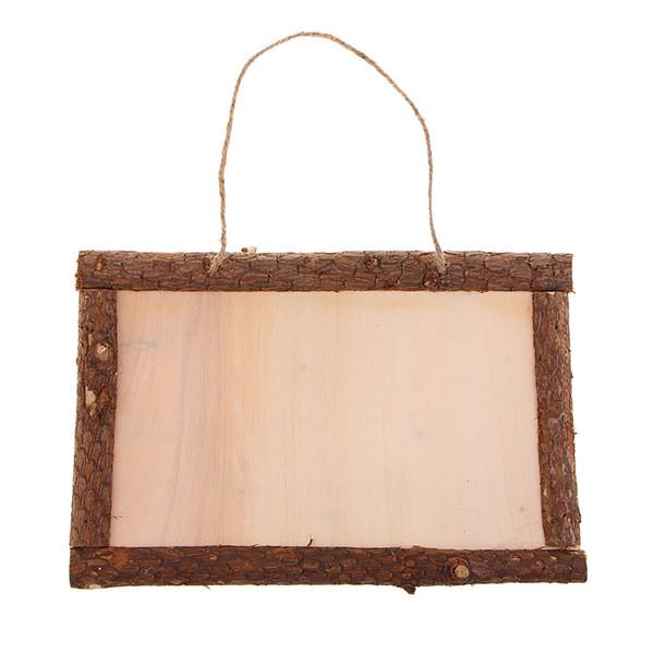 Деревянная фоторамка Vintage Style Blank Wood Picture Frame Вход Налет для Деревенские Свадебное украшение, домашний декор Ремесла