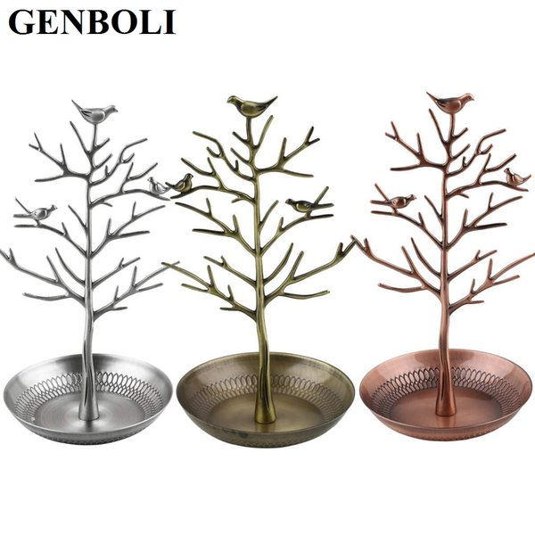 Retro Metal Tree Display Bracelet Necklace Earrings Jewelry Holder Stand Antique Craft Organizer Holder Show 3 Colors