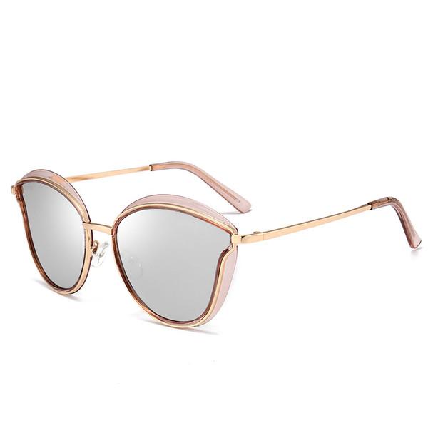 2fbbba5ccb 2019 Nuevo ojo de gato gafas de sol de marca de lujo mujeres elegantes gafas  de
