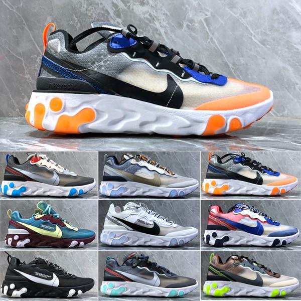 Marka erkekler platformu kadınlar kanvas ayakkabılarını fashio atletik eğitmenler beyaz gündelik spor ayakkabıları UNDERCOVER HAVA Eleman gündelik A45211 Er1 tepki mens