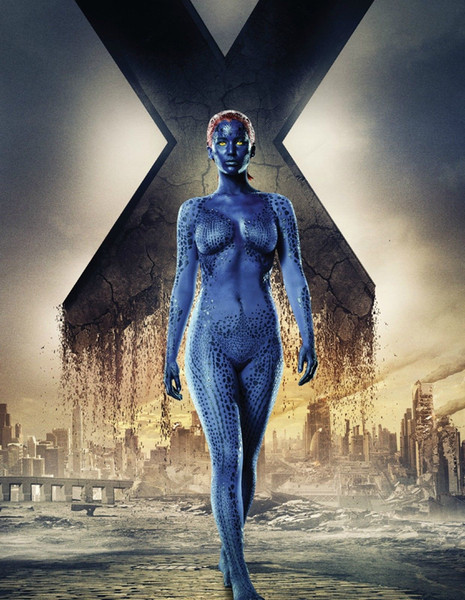 Marvel X-Men Days of Future Past Mystique Lawrence Decor Art Silk Print Poster 24x36inch 24x43inch