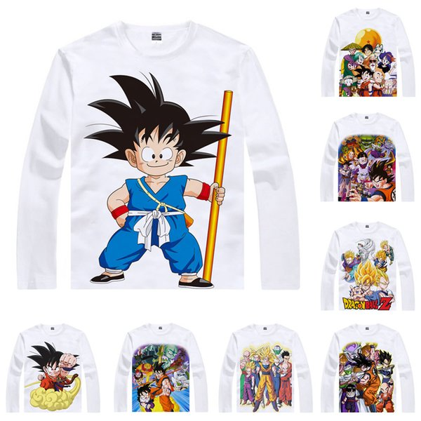 Dragon Ball Z Super Saiyajin son goku T Shirt Saiyan Monkey Dragon Ball Anime Custom T-shirt Casual Vintage Print Long Sleeve TShirts