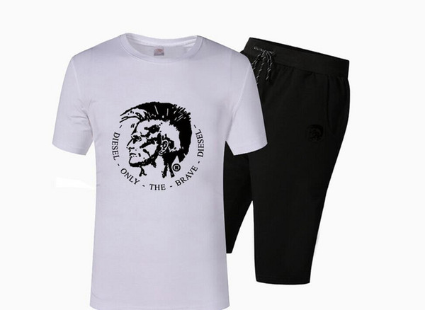 free shipping Pink dolphin short-sleeved pant cotton men's casual O-neck letter design t-shirts +short fashion cotton tops