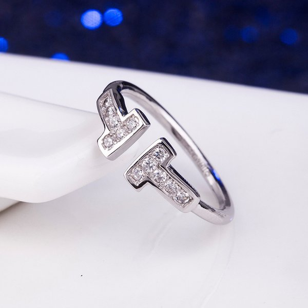 anel de prata CZ Diamante