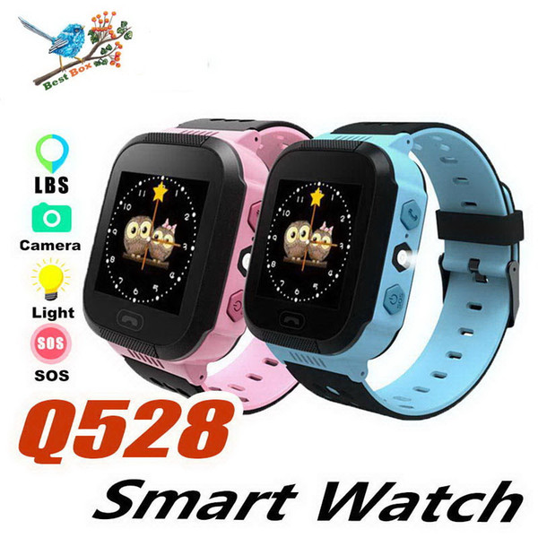 2019 Touch Screen Q528 GPS Tracker WatchAnti-lost Children Kids Smart watch LBS Tracker Wrist Watchs SOS Call For Android IOS