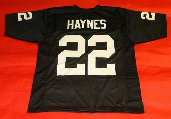 Pas cher rétro # 22 MICHAEL HAYNES PERSONNALISÉS JERSEY MIKE Mens surpiqures S-5XL, 6XL maillots de football Courir
