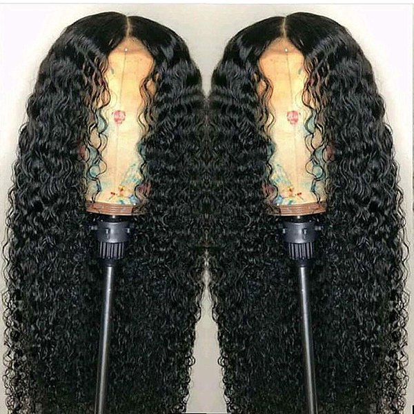 Full 360 Lace Frontal Wig PrePlucked Deep Part 180% Brazilian Remy Lace Front Human Hair Closure Wigs Water Wave for Black Women