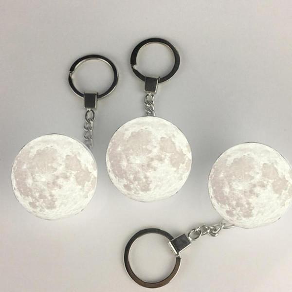 La impresión 3D recargable Luna noche de la lámpara LED de luz creativa interruptor del tacto luz de luna para el dormitorio Dropship Decoración del regalo de cumpleaños