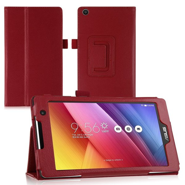 Wholesale-Newest PU Leather Stand Case Cover for ASUS ZenPad C 7.0 Z170C Z170CG Z170MG Z170CG Tablet Shell Case with 10 Colors