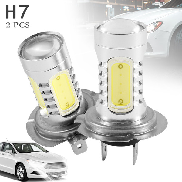 2PCS H7 Fog Light Car Headlights 6000K Car Signal Lights Professional Car Accessories for General Purpose