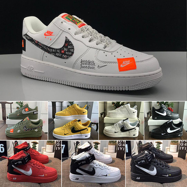 classic shoes outlet for sale great fit Acheter Nike Air Force 1 One 2019 Nouveautés Vert Noir Blanc ...