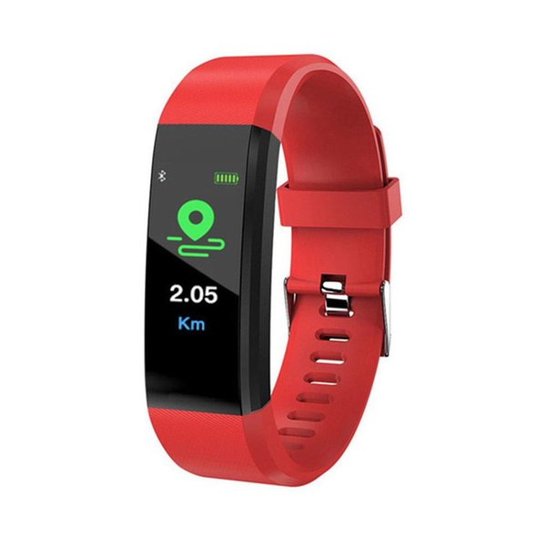 115 Plus smart fitness bracelet waterproof bracelet pedometer smart heart rate detection sleep monitoring bracelet SmartWatch smart watch